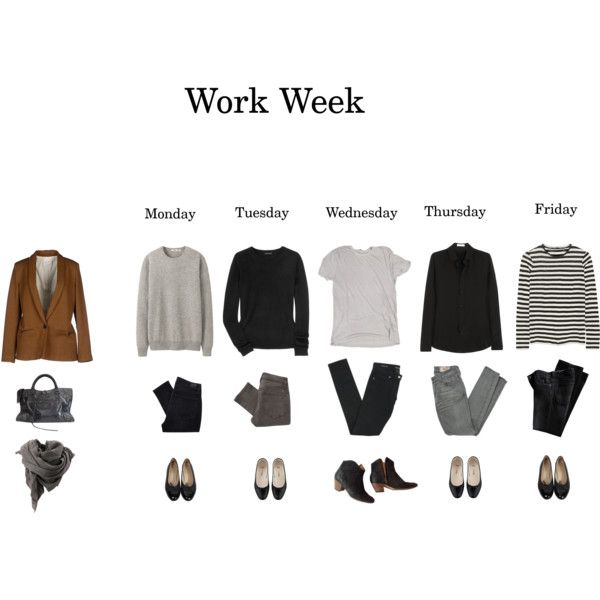 Work Week #1 by eizhowa on Polyvore featuring mode, Theory, Proenza Schouler…