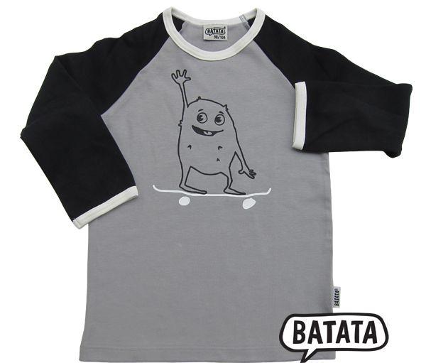 Icke auf nem Langarmshirt für Kinder von BATATA (mit Skateboard versteht sich). Mich kann man in dieser Version kaufen!!!