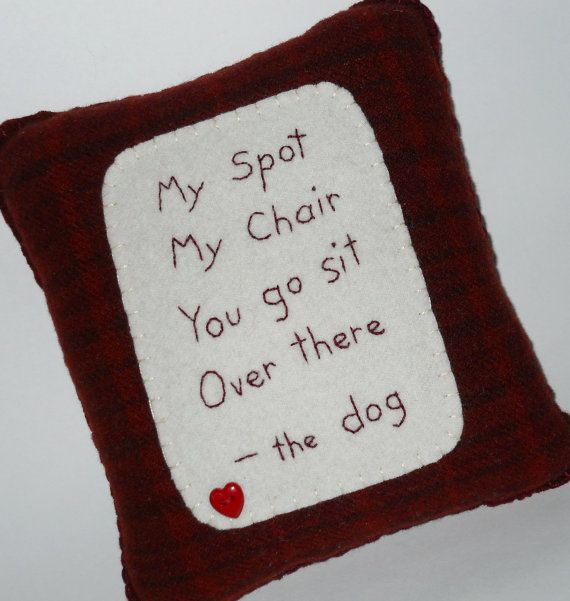 Dog Bed Pillow  Novelty Pet Throw Pillow  I'm by ThePineappleCatz