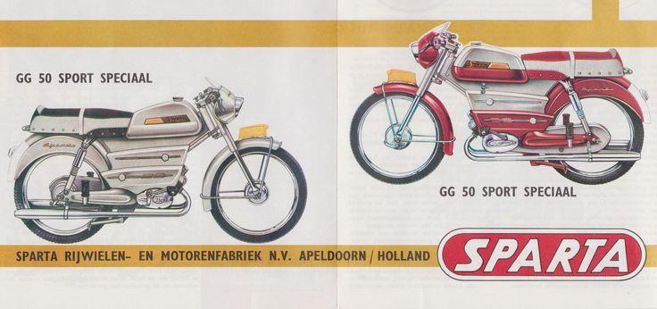 SPARTA Bromfiets - Moped Dealer Brochure Models GG 50 Sport, GG 50 Tour, GG 50 Sport Speciaal en SA 50 Automatic (Holland 1963)