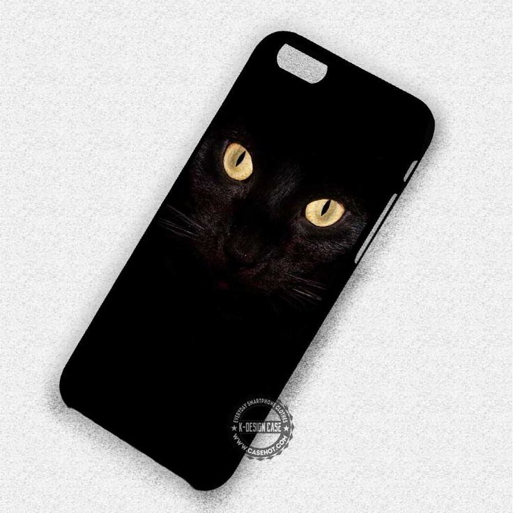 Black Cat Eyes Halloween - iPhone 7 6 5 SE Cases & Covers