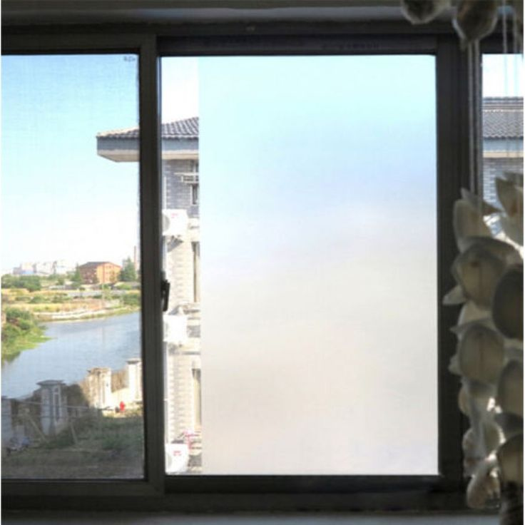 Great Waterproof PVC Privacy Frosted Home Bedroom Bathroom Window Glass Film  45*200cm