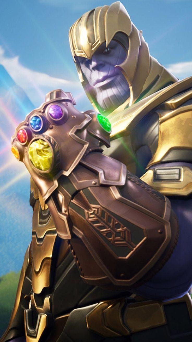Fortnite Wallpaper Thanos In Fortnite Battle Royale Hd Mobile Wallpaper Fortn Marvel Wallpaper Thanos Marvel Game Wallpaper Iphone