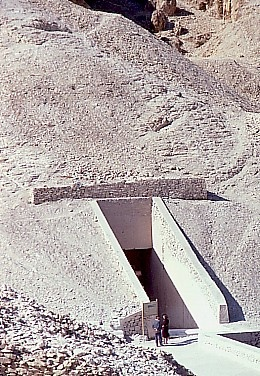 Entrance to  tomb of King Tut Valley of the Kings  Egypt