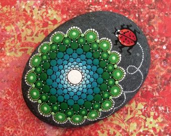 Mandala Stone Large Reserved for Fei by KimberlyVallee on Etsy
