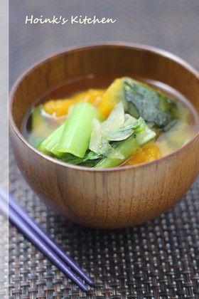 かぼちゃと小松菜のお味噌汁 by Hoink [クックパッド] 簡単おいしい ...