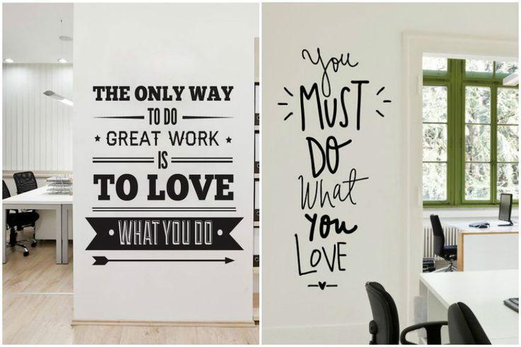 Декоративные виниловые наклейки-надписи на стену – модный тренд в декоре дома
