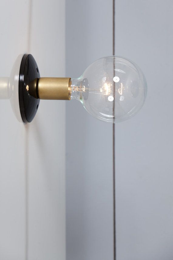 Brass Wall Sconce Light by IndLights on Etsy