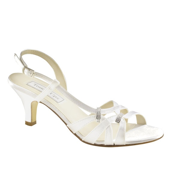 Wedding Shoes Low heel 2 inch heel shoes by TheCrystalSlipper, $90.00