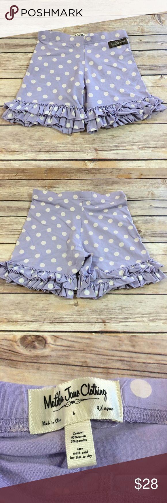 Matilda Jane Good Hart Shortline Shorties 6 Matilda Jane Good Hart Shortline Shorties 6  Great condition.  So cute.  Match the watercolor top I have listed.  #goodhart #mjgoodhart #mjaddicts #shorts #shorties #shortstuff #ruffles #polkadot #lavender #polkadots #mjshorties Matilda Jane Bottoms Shorts