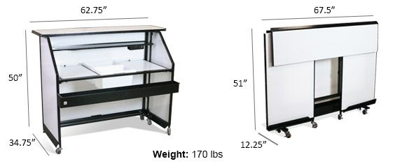 Market-Leading Value. Ideal for Events, Outdoor Areas, Banquet Halls. Stores Quickly. Customizable with LEDs. Buy our Standard Portable Bar- 1-877-764-1256.