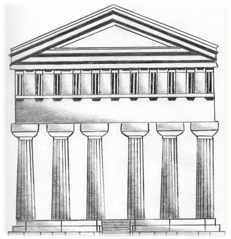 ''Templo de Apolo'' Tecnica:Dibujo en lapiz grafito