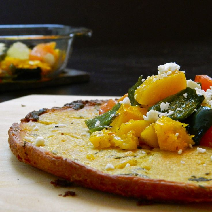 Farinata (Chickpea and Olive Oil Flatbread) Topped with Roasted Fall ...