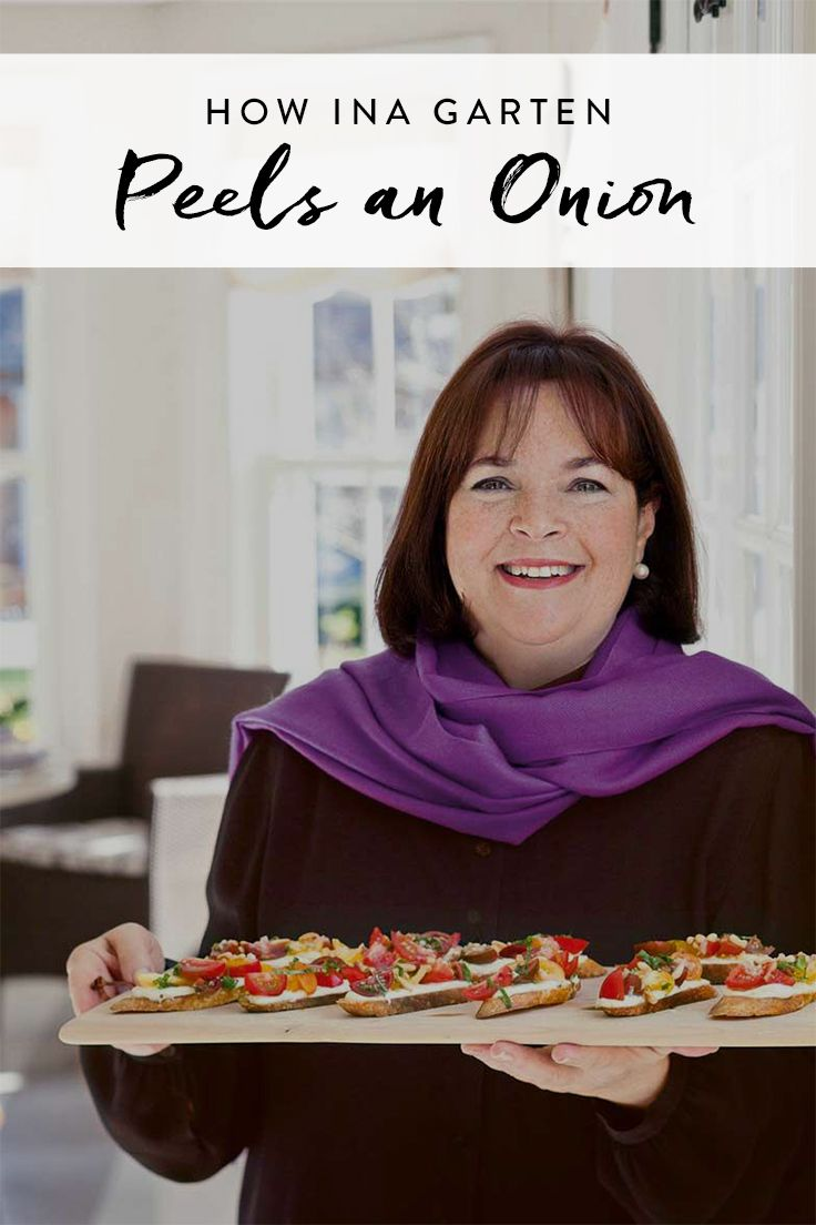 how ina garten peels an onion better than you - Cooking Contessa