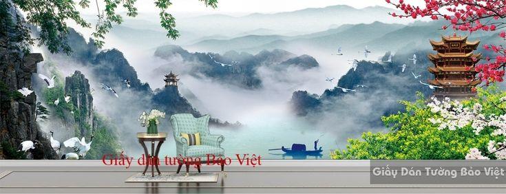 Giấy dán tường 3D panorama phong thủy FT056 | Giấy dán tường Bảo Việt