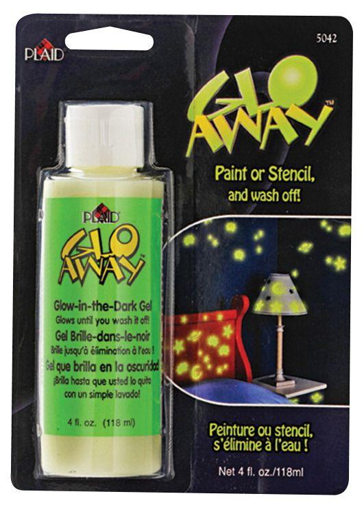 Plaid Enterprises Glo Away Non-Toxic Washable Glow-in the Dark Acrylic Paint, 4 oz Bottle