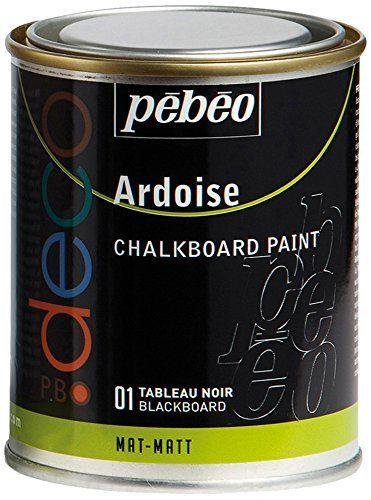 Pébéo 093501 Déco Acrylique Ardoise 1 Boîte Métal Tableau Noir 250 ml: Amazon.fr: Cuisine & Maison