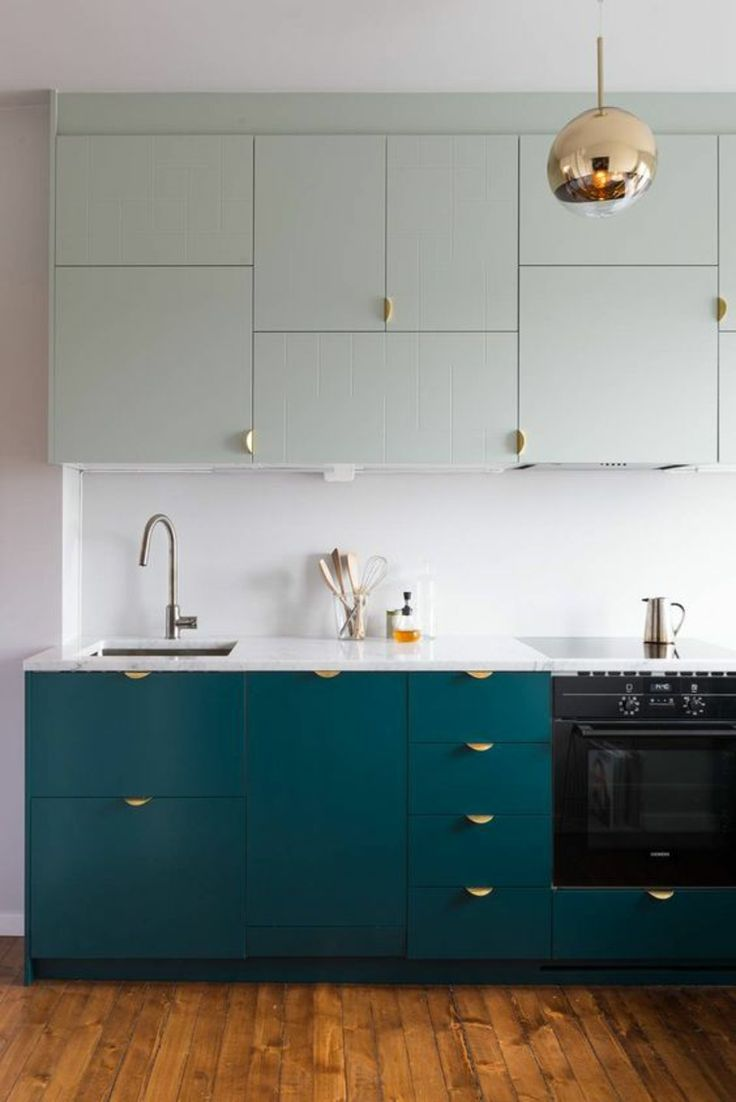 Küchenfronten erneuern Küchenschranktüren austauschen farbig