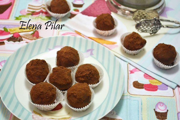 Mi Recetario por Elena Pilar: Trufas de coco y chocolate