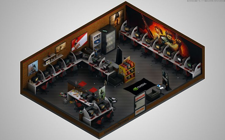 Isometric - Lan House by K3nzuS.deviantart.com on @deviantART