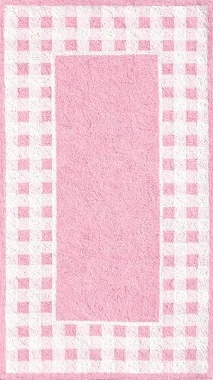 Pink and White Gingham Border Rug | Rugs, Pink rug, Rugs ...