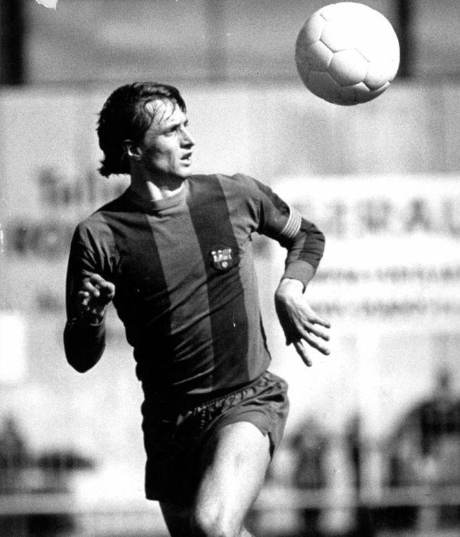 Johan Cruyff, cuando era jugador del F.C. Barcelona, en 1983.