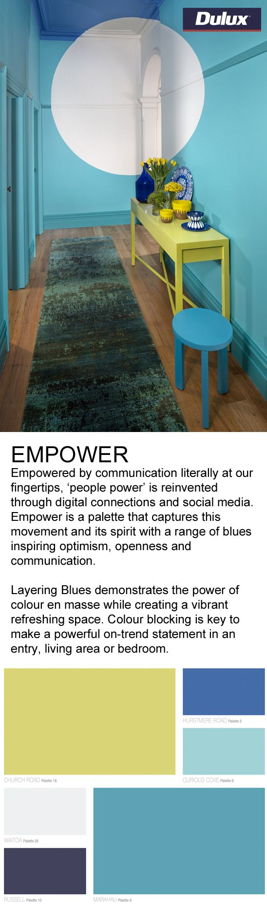 Find EMPOWER inspired fabrics at Lahood.   www.lahood.co.nz