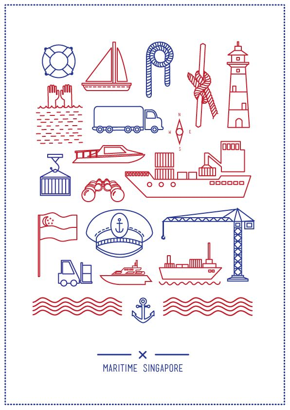 Nautical Nutshell by Stephanie Cahyadi, via Behance