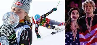 Alpine skiers Mikaela Shiffrin and Ted Ligety, ice dancing team Meryl Davis and Charlie White.