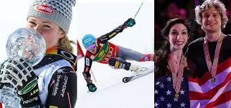 Alpine skiers Mikaela Shiffrin and Ted Ligety, ice dancing team Meryl Davis and Charlie White.