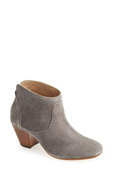 Free shipping and returns on H by Hudson 'Kiver' Suede Bootie (Women) at Nordstrom.com. A stacked woodgrain heel looks right on trend supporting a Western-inspired suede bootie.