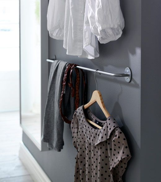 M s de 25 ideas incre bles sobre barras para colgar ropa - Perchas pantalones ikea ...