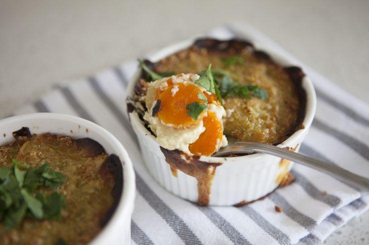 Parsnip, Carrot and Quinoa Gratin #tenina #thermomix #vegetarian #newbook