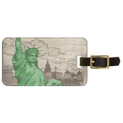 Classic Statue of Liberty Bag Tag - accessories accessory gift idea stylish unique custom