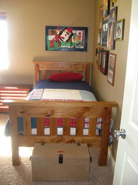 ana white build a simple bed full size free and easy diy project - Twin Size Wood Bed Frame