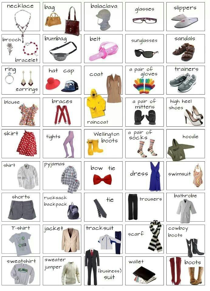 Clothes. Daily Routine. Shopping - #Vocabulary #English                                                                                                                                                                                 More