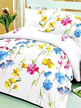 This bedsheet set has captivating floral prints of flowers that create a look that is creative and artistic. The bedsheet resembles a field of flowers on a summer day. The 100% cotton fabric offers optimum comfort and luxury. Its premium quality ensures that the colours will remain vibrant after multiple washes. You will feel cared for and comforted every time you slip under the sheets. The look, feel, and quality makes this set a complete package. Info