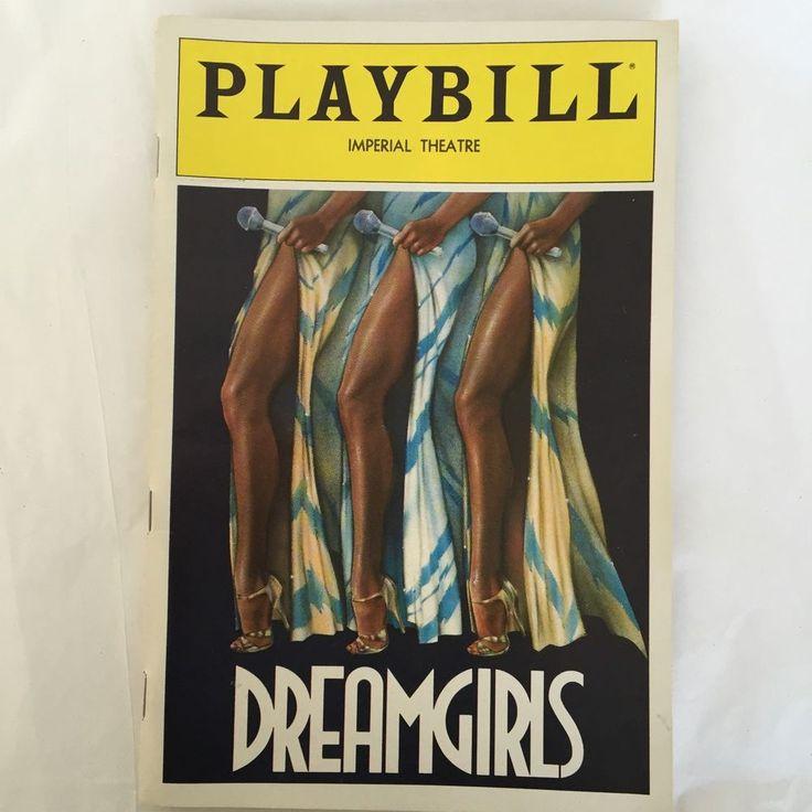 Dreamgirls Playbill Cleavant Derricks Loretta Devine Jennifer Holliday March 82