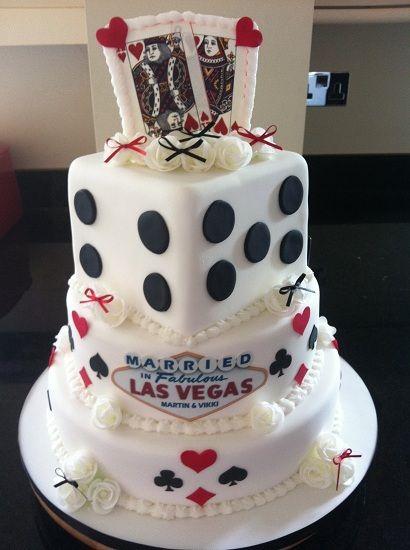 Vegas wedding cake by Sophisticakes Chelmsford,