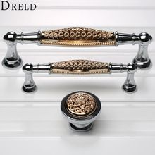 DRELD 2017 Furniture Handles Cabinet Knobs and Handles Wardrobe Door Pulls Dresser Drawer Handles Kitchen Cupboard Handle(China)