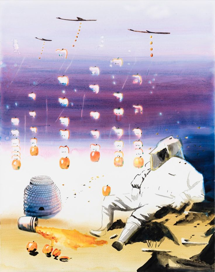 John Kørner's allegorical 'Apple Bombs' at Victoria Miro   Wallpaper* Magazine