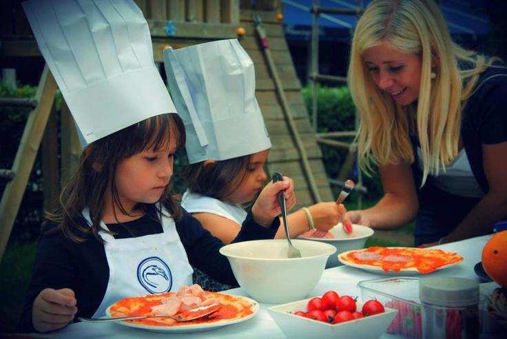 Cooking school for children 2012 garden Flaming Restaurant