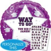 Personalized Purple Graduation Balloon - Party City