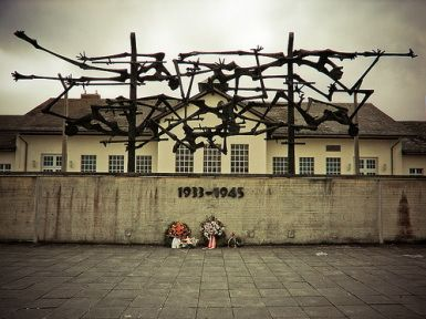 Dachau - outside of Munich, Germany. I saw this for the first time in 2003 and this memorial sculpture gripped me. It is remembering the emancipated bodies of prisoners and the barbed wire that kept them imprisoned.    [photo credit domake.saythink]
