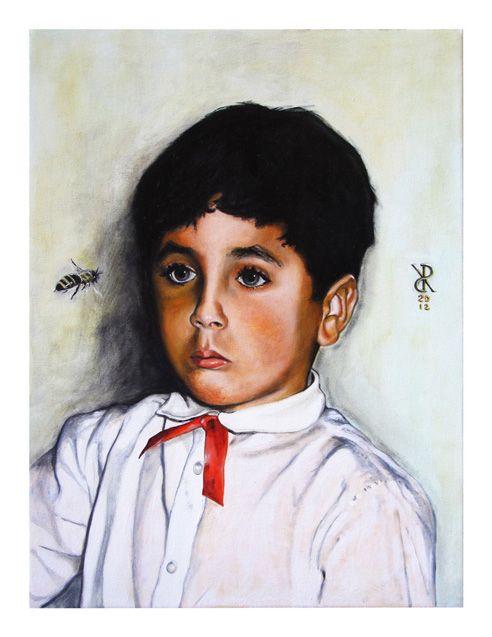 Riccardo_Soloperto/ Bee - Oil on canvas - 30cmx40cm