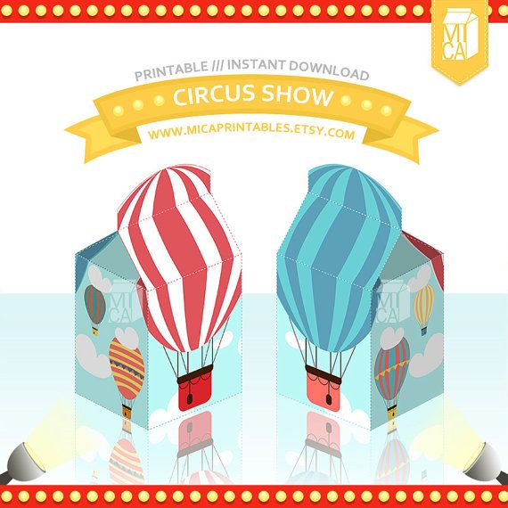 Hot Air Balloon Printable Party Favor Treat by MicaPrintables