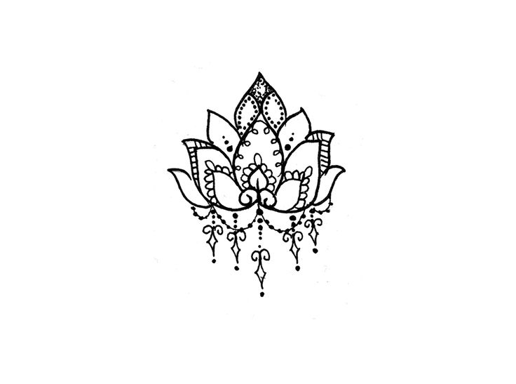 Lotus Flower Temporary Tattoo - Temporary Tattoos + More ... This would be nice as an actual tattoo!!