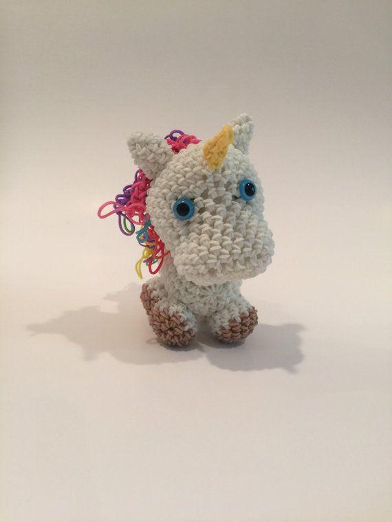 Rainbow Loom Amigurumi Unicorn : Best 20+ Rubber band charms ideas on Pinterest