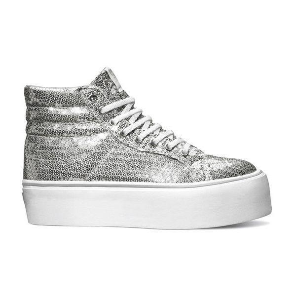 VANS Sk8-Hi Platform Sneakers ❤ liked on Polyvore featuring shoes, sneakers, vans
