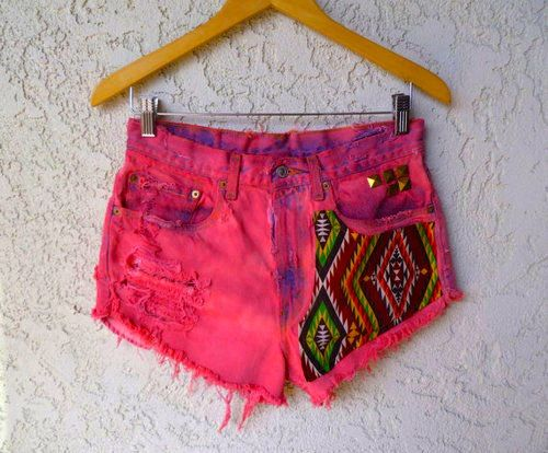 : Pink Shorts, Fashion, Diy Shorts, Style, Clothes, Closet, Denim Shorts, Summer Shorts, Crafts